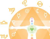 Chakraology logo illustrating astrology + chakras