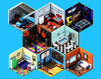 Isometric Rooms - Collection V1