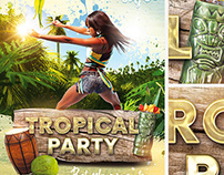 Tropical Party PSD Flyer Template
