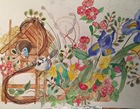 Watercolor still life paintings