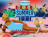 "THREE1989 ""Part Time Summer"" — Album Artwork"