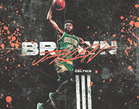 Adidas Poster (Spoof) | Jaylen Brown #7 | Celtics