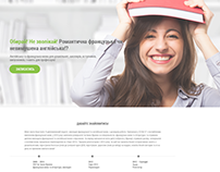 Landing-page for tutor company
