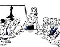 Business on the Board - Illustrations