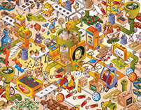Illustration for the chocolate factory