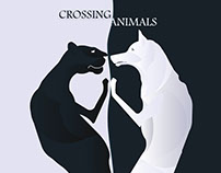 Logo for mobile app crossing animals