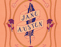Jane Austen-Themed Stationery Set Cover Design