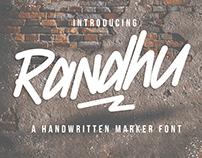 Randhu - Handwritten Marker Font