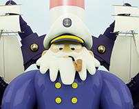Capitán | Ilustración 3D