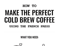 Infographic, Cold Brew Coffee — Trustworthy Bear, 2016