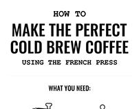 Infographic, Cold Brew Coffee — Trustworthy Bear, 2016