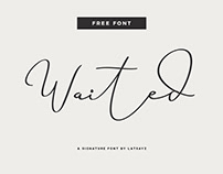 Miss Waited - Free Signature Font