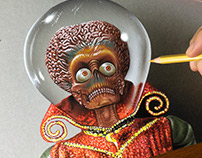 Portrait of the Martian Leader - Mars Attacks