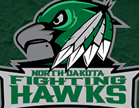 University of North Dakota Fighting Hawks Concept