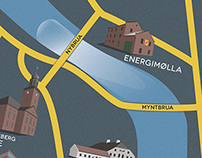 Map of Kongsberg, Norway