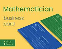 Mathematician Business Card Templates