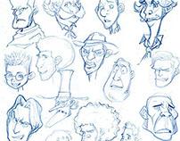 "soonsang works - free drawing""face thumbnail sketch"""