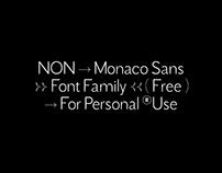 Non Monaco Sans – Free Font