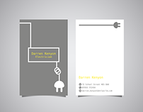Darren Kenyon Electrician Business Card