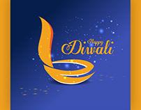free happy diwali vector