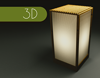 Wooden Lamp (Blender / Cycles)