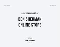Ben Srerman | Online store redesign concept