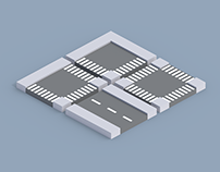 Low Poly Modular Roads - Free Asset Pack