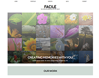 Facile Portfolio Website Concept