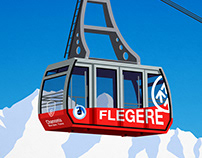 Flegere , Chamonix Ski Resort Poster