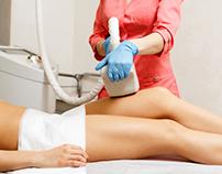 Vacuum massage. Hardware cosmetology.