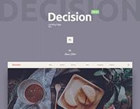 Free PSD Landing | Decision