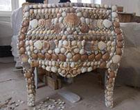Mobilier - mozaic - scoici