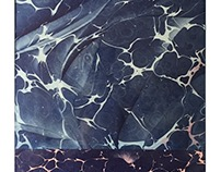 trichromatic-drunk marbling-rolling paper collage