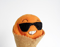 """Scoopsie Orange"", ice cream scoop Art Toy"
