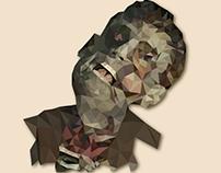 Zombie Tarot Card / Illustration Lowpoly