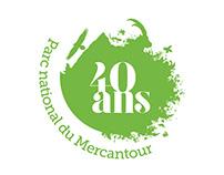 Visual identity of Mercantour's national Park birthday