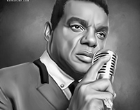 Ron Isley Digital Oil Painting by Wayne Flint