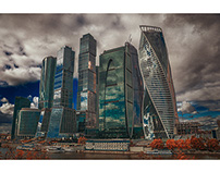 Autumn. Moscow city. International business center
