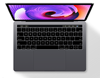 MacBook Pro 2016 with Touchbar (Free Sketch File)