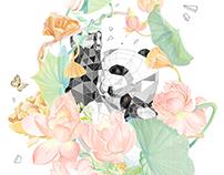 莲花熊猫 lotus panda
