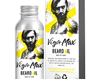 Beard Oil packaging and label design