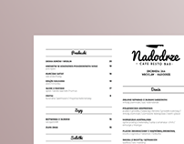 Menu for restaurant placed in Wroclaw, Poland