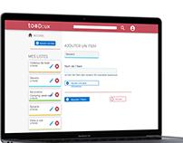 To doux - Web app de listes et tâches