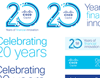 Cisco Capital 20th anniversary ID and branding