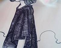 Girls. Sketchbook.