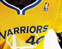 adidas NBA Golden State Warriors Sleeved Jerseys Debut