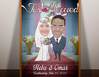Wedding Cartoon Poster