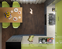 Design project of small kitchen