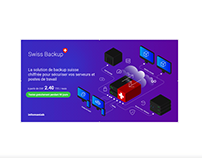 Banner Ads Infomaniak - Isometric illustration - Backup