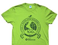 Oxfam Trailwalker t-shirt design